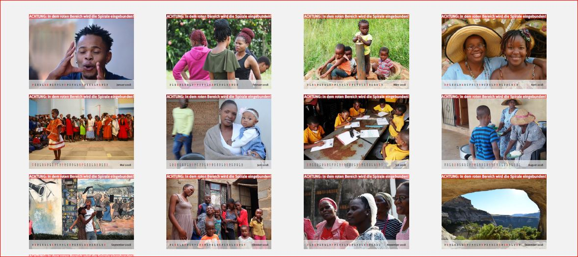 Imbongi - Voices for Africa Kalender 2018